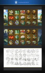 SLOTS Game icons of a China theme by phoeni-x-man