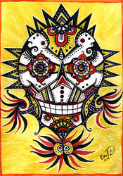 Smiling skull by retransmission