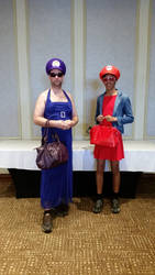 Wario Mario Prom Dresses Anime North 2016 by wakeuplena