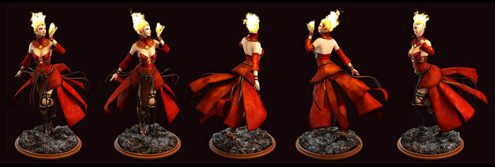Lina Arcana Concept by kunkka's Maiden of Fire by Graxious