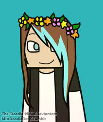 ((Commission)) Lilmissscene Flower Crown c: by The-Doodle-Ninja