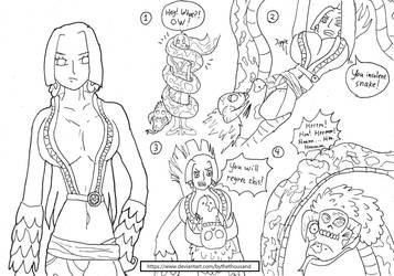 One Piece vore: Boa Hancock and her pet snake! by bythethousand