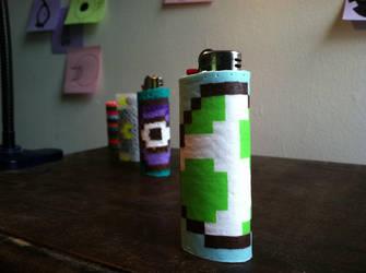 Yoshi Lighter by poo-flinger