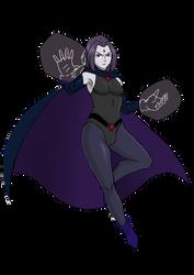 Ravena Teen Titans by HiragaSaitoXD