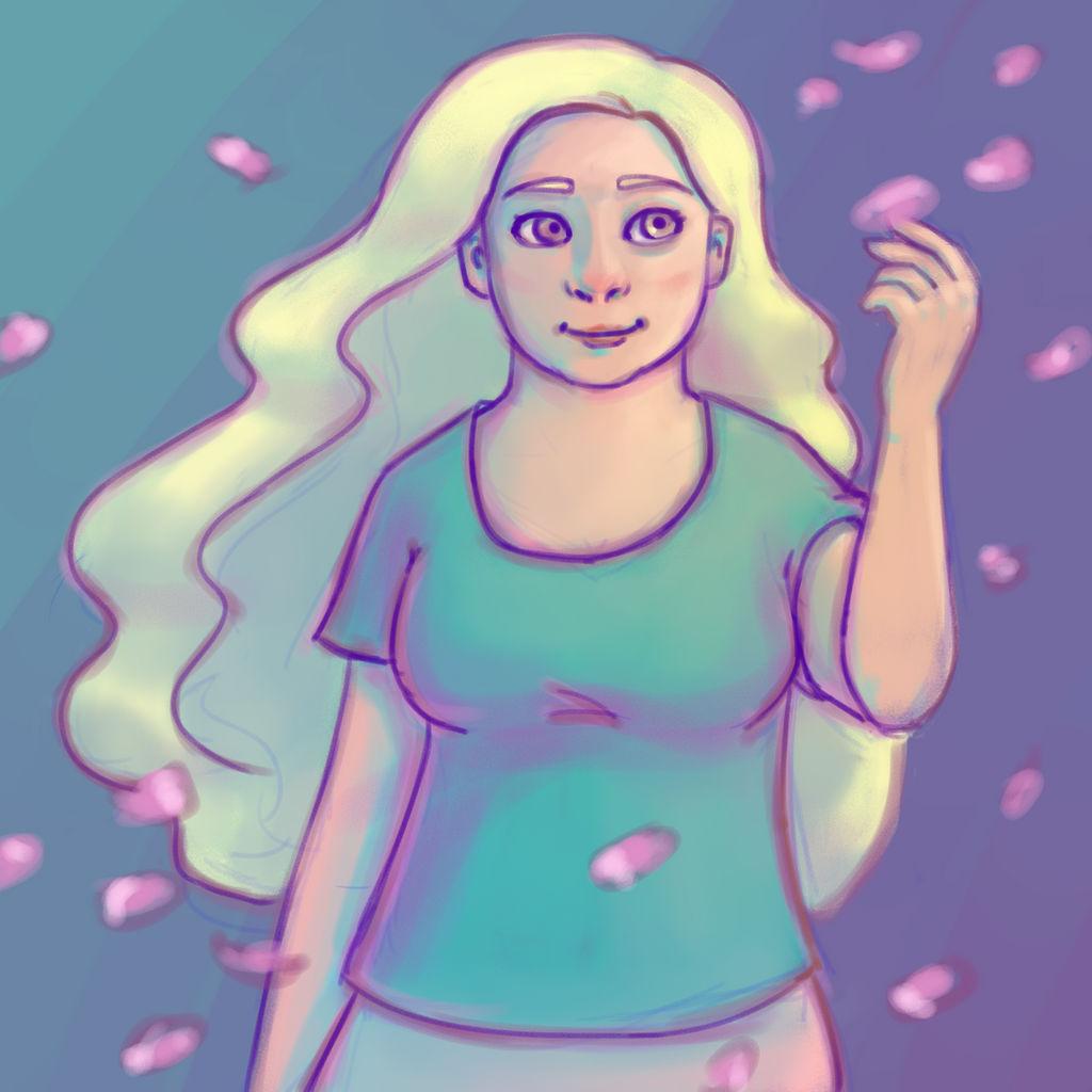 Nameless Flower Girl by DTSaranya