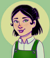 Cartoon Girl by DTSaranya