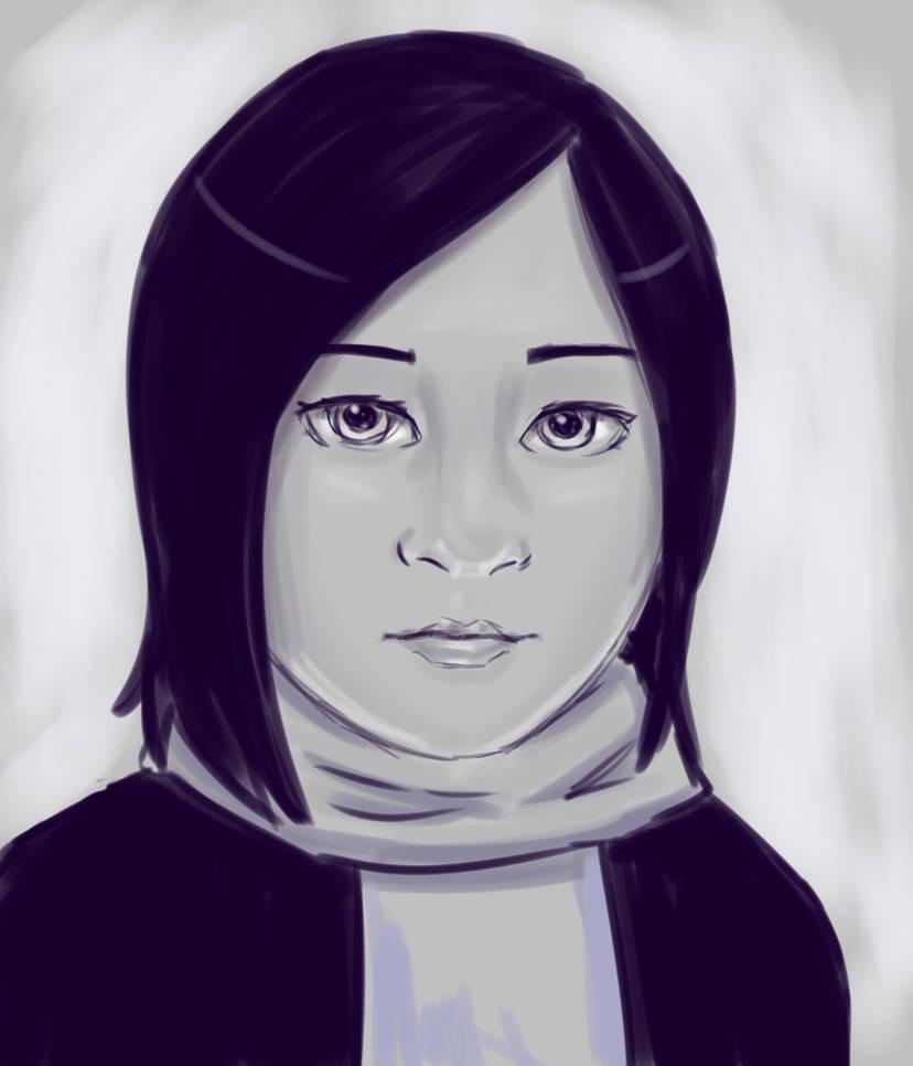 Kaia in Grey by DTSaranya