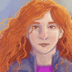 Red Curls by DTSaranya