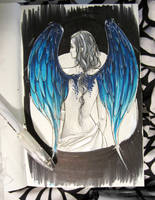 Moleskine Sketch: Fallen Angel by memetzger
