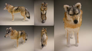 Timber Wolf Plush by WhittyKitty