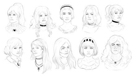 Belli Ladies Busts by TheGingerArtist