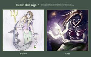Draw This Again: Devil's Mermaid by ChiakiNeko