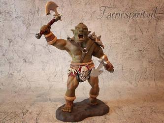 Grunduk orc warrior by OfficialFaerieSpirit