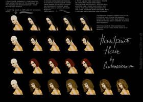 How I paint hair by LindaMarieAnson
