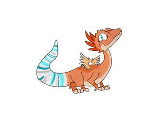 Gecko dragon speed paint by Enbdragon