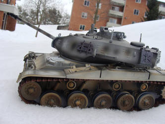 M41 Walker Bulldog in the Apartment Block by LoricTheMad