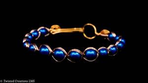Egyptian Wire Wrap Bracelet by TwistedCreationsLMS