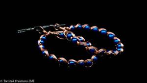 Egyptian Wire Wrap Earrings by TwistedCreationsLMS