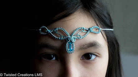 Blue Elven Circlet by TwistedCreationsLMS