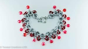 Flowers and Gems Bracelet by TwistedCreationsLMS