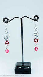 Flowers and Gems Earrings by TwistedCreationsLMS