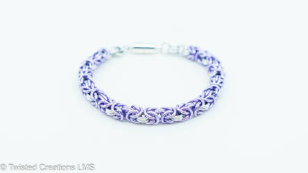 Purple Byzantine Bracelet by TwistedCreationsLMS