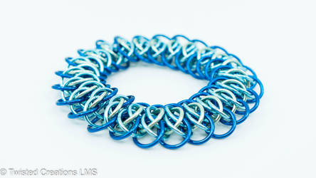 Viperscale Bracelet (Blue) by TwistedCreationsLMS