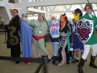 Legend of Zelda cosplay group by SolarisYuna