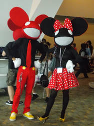 Mickey and Minnie deadmau5 by SolarisYuna