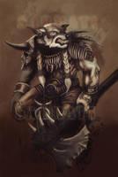 Tribal Warrior sketch by Sarmati