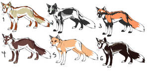 Fox Adoptables by shidoni-the-wolf