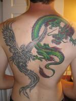 Phoenix and Dragon by MrSultan531