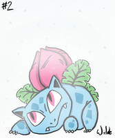 #002 Ivysaur  by twitchSKETCH