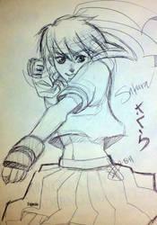 Sakura Sketch by silent-mooby