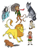 Narnia Characters by carcadann