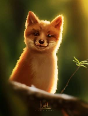 Springtime Fox Cub by NicolaHynes