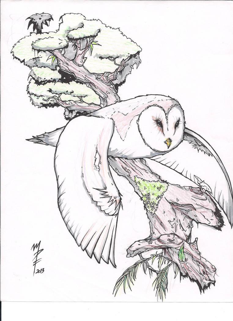 Barn Owl Tattoo Design By Pyro05 On Deviantart