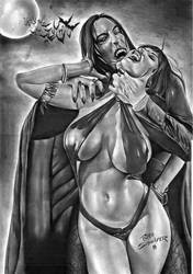 Vampirella Vs Dracula by Rafaschneider2016art