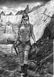 Lara Croft Tomb Raider Art 2017 by Rafaschneider2016art