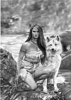 Pocahontas Art 2017 by Rafaschneider2016art