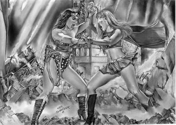 Wonder Woman Vs Supergirl 2018 by Rafaschneider2016art