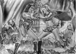 Wonder Woman Vs Supergirl 2018 by Rafaschneider2016art