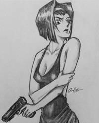 Faye Valentine (Sketch) by Robo-Artist