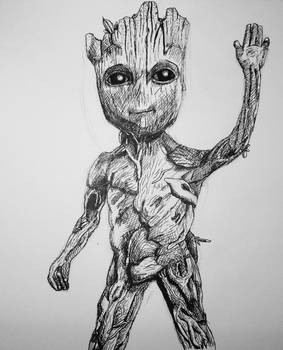 Baby Groot By Mcsdc On Deviantart