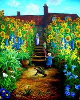 in Monets garden by rodulfo