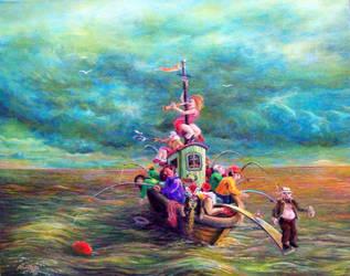 cod fishers in the north sea by rodulfo