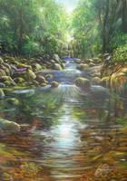 mountain river by rodulfo