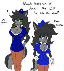 Anna the Wolf Airline Outfit by AllenGutairHero