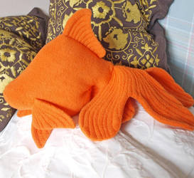 Orange fantail goldfish plush by PlushOwl