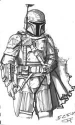 grey mando sketch by lonewolf1183